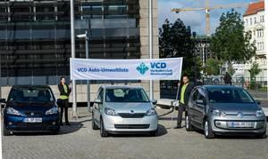 In der Auto-Umweltliste 2013/2014 des Verkehrsclubs Deutschland (VCD) belegt ERDGAS, wie im Vorjahr, den ersten Platz: In diesem Jahr gewann neben dem Seat Mii EcoFuel auch der Škoda Citigo Green tec und der VW eco up!. Foto: VCD